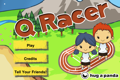 Q Racer title screen