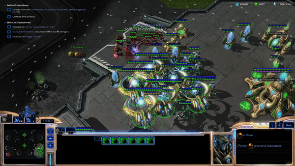 Here's the training mode and some new Protoss units.