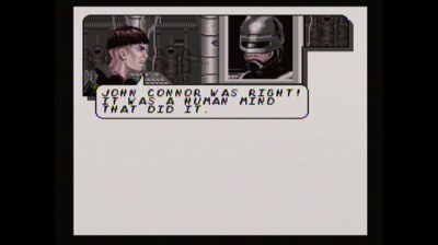 Robocop Versus The Terminator is based on the comic book series by the same name. The story panels in the game reflect that